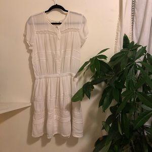 Aritzia White eyelet summer mini dress